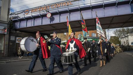 The parade was led by the Jewish Lads and Girls� Brigade band. Picture: Sean Pollock/Hackney Council