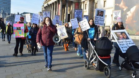 A Hampstead march to Free Nazanin in December last year led by Jessica Learmond-Criqui. Picture: POL