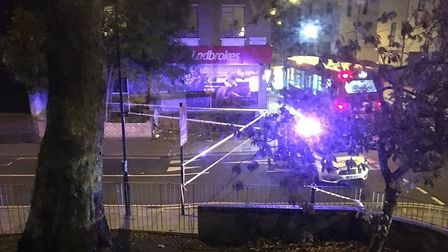 Police were called just after midnight to the Nightingale Estate. Picture: Karam Filfilan