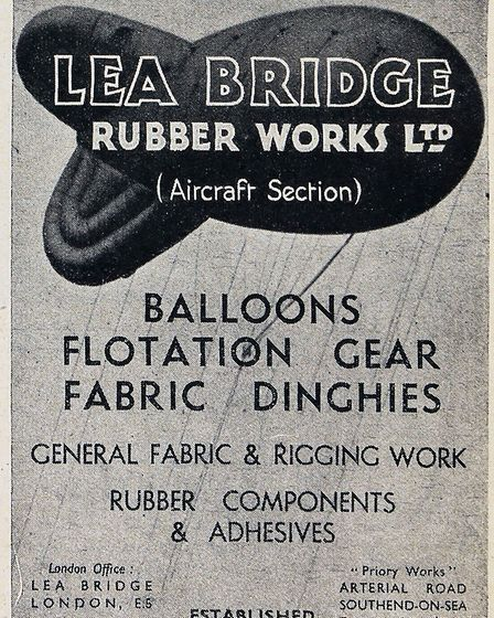 Lea Bridge Road Rubber Works wartime advert