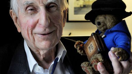 Michael Bond, author of the Paddington Bear stories. Picture: Nick Ansell