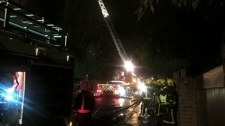 A woman has died in a blaze at a four-storey property in Hampstead (Picture: @LFB)