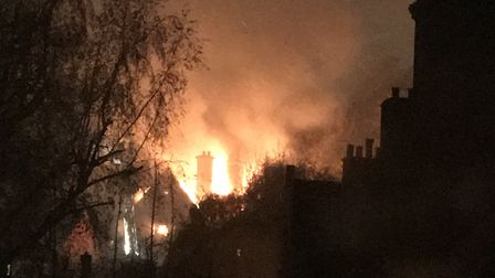 A woman has died in a blaze at a four-storey property in Hampstead