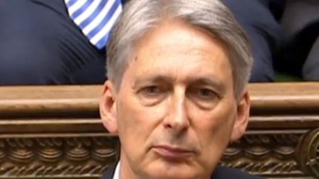 Chancellor of the exchequer Philip Hammond. Photo by PA