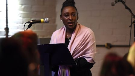 Deputy mayor, Cllr Anntoinette Bramble, at the Young Black Men research symposium at Hackney House l