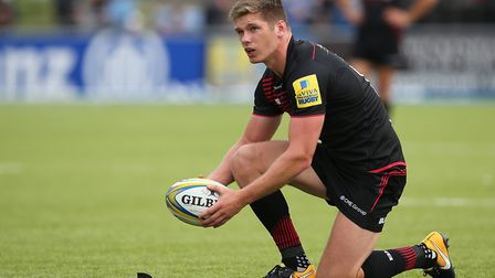 Saracens fly half Owen Farrell has been named on the World Rugby Player of the Year award (pic: Mark