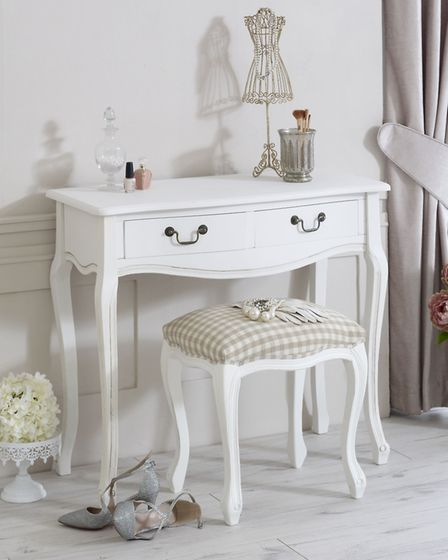Classic White Range Dressing Table with Stool, Melody Maison