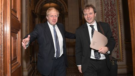 Foreign Secretary Boris Johnson meets with Richard Ratcliffe at the Foreign Office Picture: Stefan