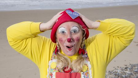 Clowns from around the world arrive in Lowestoft for the Clown Gathering UK 2018. Pictured is Dee De