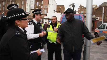 Police numbers have been slashed in Hackney thanks to central government cuts.