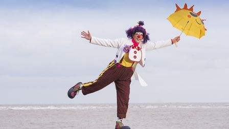 Clowns from around the world arrive in Lowestoft for the Clown Gathering UK 2018. Pictured is Lovely