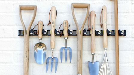 Hanging tools means less chance of accidents and you'll be able to find them easily