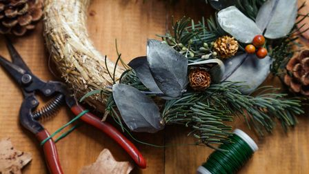 Keep your tools extra sharp now because you might need them for exterior Christmas decorations!