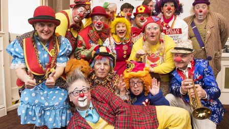 Clowns from around the world arrive in Lowestoft for the Clown Gathering UK 2018. Picture: Nick Butc