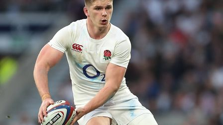 Saracens back Owen Farrell in action for England (pic: David Davies/PA)
