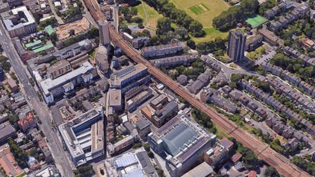 An aerial view of Hackney around Mare Street. People in temporary accommodation have no real prospec