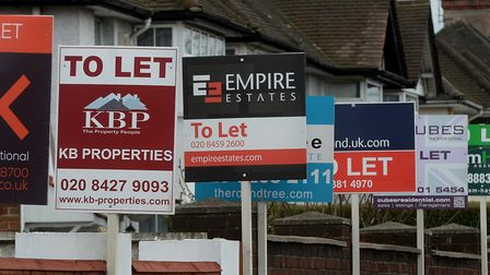 A file image of estate agent's boards in London. Picture: Anthony Devlin/PA Archive