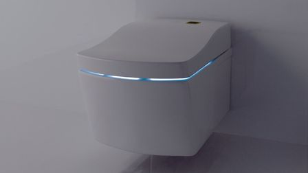 The Washlet is sensitive and will lift the seat automatically on approach