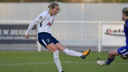 Tottenham Ladies Wendy Martin finds the net late on against Doncaster Rovers Belles (pic: wusphotogr