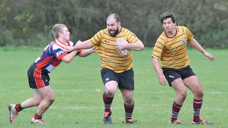UCS Old Boys carry the ball forward at Watford in Herts/Middlesex One (pic: Nick Cook)