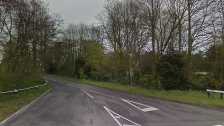Church Road in Blundeston, where a car and lorry collided. Picture: Google