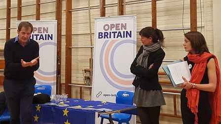 Alistair Campbell addresses the audience at the Open Britain event