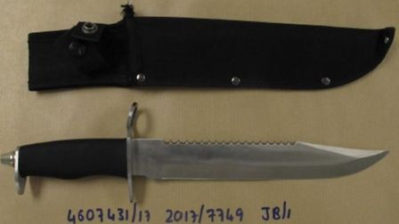 The knife used in the attack was found in the defendant's bed. Picture: CPS