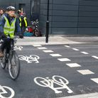 An example of a parallel cycle and pedestrian crossing, like the one the council will put at the jun