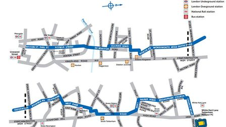 The CS1 route. Picture: TfL