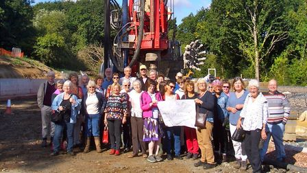 Members of the Cannock Mill Cohousing group on the development site in Colchester. Picture: Cannock