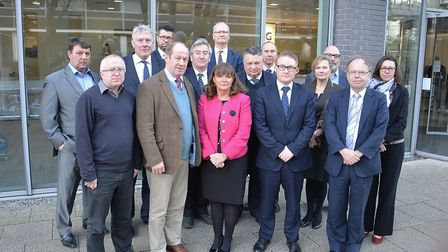 Public leaders from across Suffolk meet with Eleanor Kelly. Picture: CONTRIBUTED