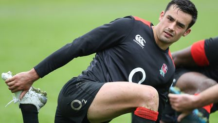 Englland's Alex Lozowski during a training session at Pennyhill Park (pic Adam Davy/PA)