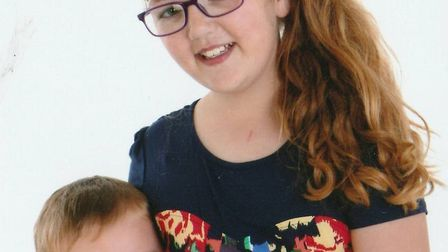 Shelby-Brooke Moore, from Lowestoft, has decided to donate her hair to children less fortunate than