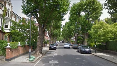 Two binmen ended up in hospital after a punch up in Heath Drive, Hampstead, this morning. Picture: G