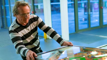 Pinball Geoff still loves the game as much as he did when he was a kid. Picture: Michael Walton