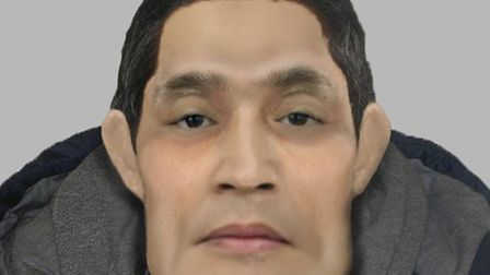 The latest e-fit of the man. Picture: Met