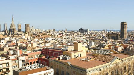 The view of the city from the roof top spa at Le Méridien Barcelona