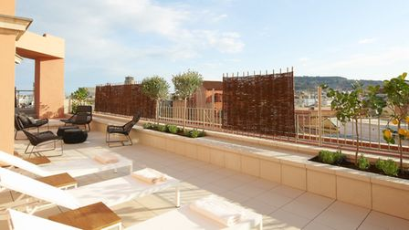 The roof top spa at Le Méridien Barcelona