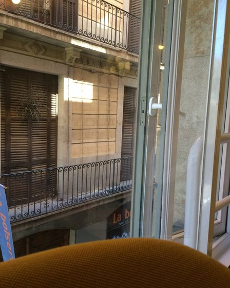 The view from the bedroom at Le Méridien. Picture: Emma Bartholomew