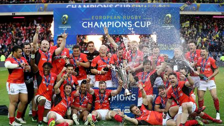 Saracens celebrate after winning the European Champions Cup Final (pic Mike Egerton/PA)