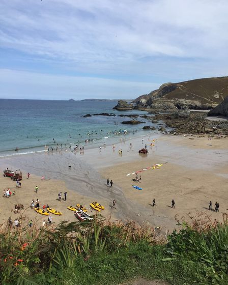 The view of Trevaunance Cove from right outside Cove Cottages. Picture: Emma Bartholomew