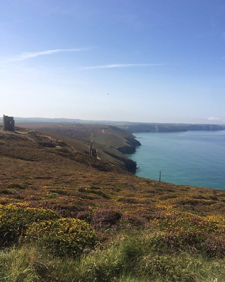 The view from the cliff coastal path. Picture: Emma Bartholomew