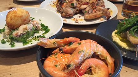 A selection of sea food and chicken wings at Schooners. Picture: Emma Bartholomew