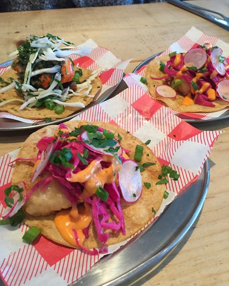 The tacos at Schooners restaurant in Trevaunance Cove. Picture: Emma Bartholomew