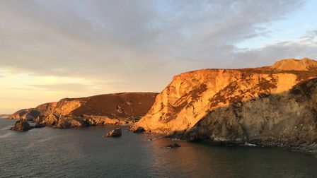 Sunset over Trevaunance Cove seen from Cove Cottages. Picture: Emma Bartholomew