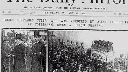 Extract from the 'Daily Mirror' dated January 30 1909. Pictured are from left, Sir Edward Henry-Comm