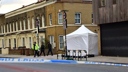 The scene of the stabbing at the junction of Cassland Road, South Hackney. Picture: Polly Hancock