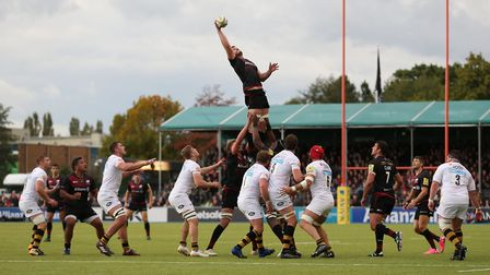 George Kruis collects a lineout for Saracens earlier in the season (pic: Nigel French/PA)