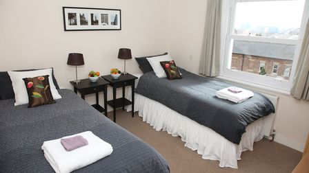 The free flat in King's Cross has two spacious bedrooms with king size double beds that can be split