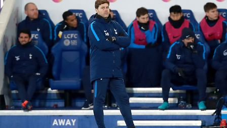 Tottenham Hotspur manager Mauricio Pochettino on the touchline at the King Power Stadium (pic Mike E